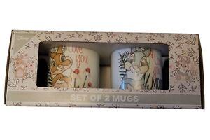 PRIMARK Disney Bambi Thumper Miss Bunny Love You 2 Mug Set BNIB