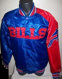 BUFFALO BILLS NFL STARTER Snap Down Jacket Sping/Summer BLUE/RED 3X 4X 5X