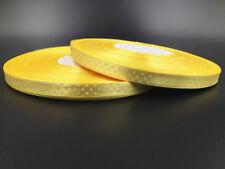 "10Yards 3/8"" 10mm  Polka Dot Ribbon Satin Craft Supplies crafts light yellow"