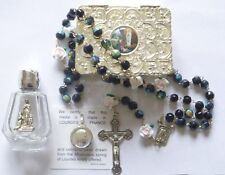 Lourdes Water, Holy Water Pendant / Medal & Lourdes Rosary Beads, Catholic Gifts