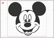 Mickey Mouse Mylar Ch/âteau AirRush Peinture murale Art Pochoir