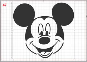 Disney Mickey Mouse Face Stencil MYLAR A4 sheet strong reusable Art Craft Deco