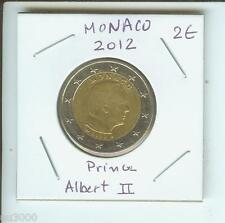 2012 2€ MONACO 2 Euro  2-€ Bimetallic Coin Prince Albert II !!!