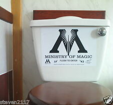 HARRY POTTER--MINISTRY OF MAGIC FLUSH TO ENTER