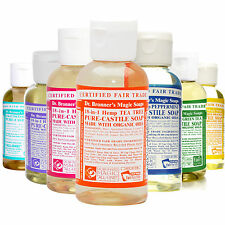 Dr Bronner Castile liquid soap Organic 18-1 2 fl oz 59 ml Vegan fair trade