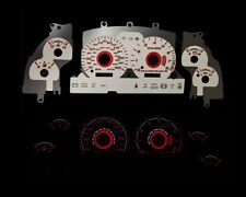 96-98 Mustang GT V8 Red Indigo Glow White Gauges 96 97 98  (I-113)