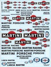 "DECALS "" MARTINI RACING "" TOUTES ECHELLES 19cm X 15cm - COLORADO DCD018"