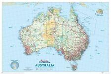 AUSTRALIA MAP POSTER 61x91cm Australian Geographic NEW