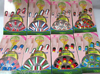 24x FULL COVER FIFA WORLDCUP SUPPORTER FALSE NAILS PORTUGAL USA ITALY ENGLAND UK