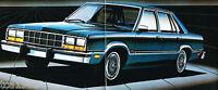 1982 FORD FAIRMONT FUTURA Dealer Sales Brochure / Pamphlet : Coupe, Sedan