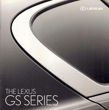 LEXUS GS 2008 UK Market sales brochure 300 460 450 h se se-L Sport