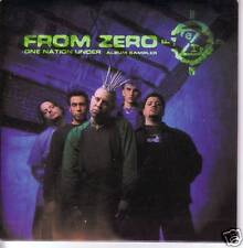 FROM ZERO One Nation Under Card Sleeve SAMPLER w/ VIDEO PROMO CD Single USA 2001