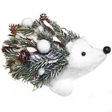 17cm Snowy Spruce Hedgehog Decoration - Christmas Table Decoration