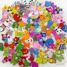100 pcs Lots mixed animal wood flatback appliques scarpbook embellishment craft