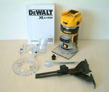 """DeWALT DCW600N 18v XR Brushless Router Trimmer 8mm and 1/4"""" Collet Naked"""