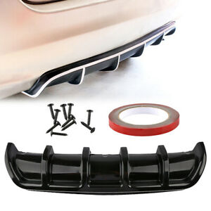 Universal Car Rear Bumper Cover Body Spoiler Kit Shark Chin Diffuser Trim Black
