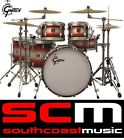 RRP$14,000! GRETSCH USA CUSTOM 6 PCE DRUM KIT IN RED DUCO LTD ED ONLY 20 MADE!