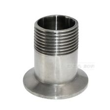 """1"""" DN25 Sanitary Male Threaded Ferrule Pipe Fitting Tri Clamp Type SS304"""