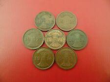 COINS GERMANY WEIMAR 2 REICHS PFENNIG 1936A D F 1925A D E F  (REF:54)