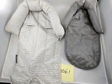 2 pcs Eddie Bauer Baby 2-in-1 Reversible Head Support ~ Grey Blue Lime Taupe New