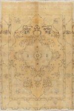 Vintage Traditional MUTED Handmade Kashmar Oriental Area Rug Wool Carpet 7'x10'