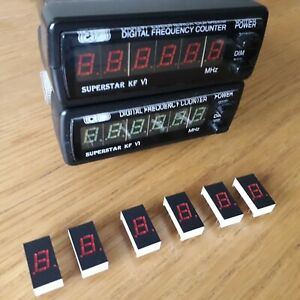 "SUPERSTAR KF-VI ""RED"" FREQUENCY COUNTER REPLACEMENT LED DIGITS X6 - BRAND NEW"