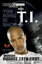 "T.I. 2007 ""The King Is Back Tour"" Minneapolis Concert Poster-Rap, Hip-Hop Music"