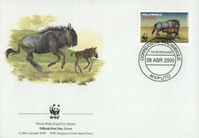 WWF  ANIMALI  FDC MOZAMBICO BUSTA PRIMO GIORNO 2000 KARIBU  3/4