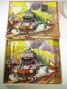 Vintage Philmar Famous Trains Wooden Jigsaw The Master Cutler Train. 60 pieces