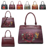 Ladies Rose Embossed Handbag Butterfly Tote Bag Shoulder Bag Grab Bag MA36533