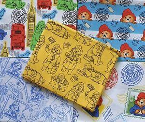 Paddington Fat Quarter 100% Cotton Fabric Nursery, Patchwork, Cushion, Facemasks