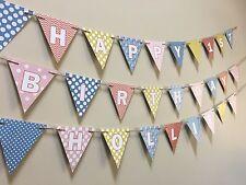 NUOVO BAMBINO BAMBINA decorazioni, Bandierine, 1st compleanno, Battesimo, Festa