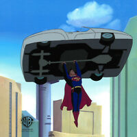 Warner Brothers Animated Series Production Cel Superman-Blast From The Past II