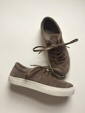 K-Swiss 12 Court Classico Suede Shoes Leather Taupe NEW