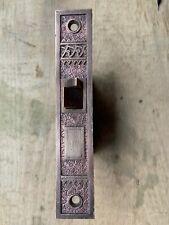 Vintage Victorian Eastlake Brass Corbin Mortise Door Lock