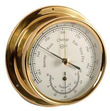 Barometer/Thermometer Analog BARIGO Regatta Brass