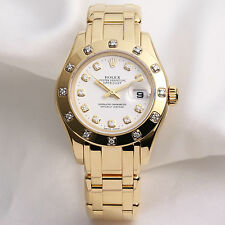 Rolex Lady DateJust Pearlmaster 80318 Diamond 18k yellow gold