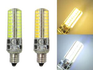 E11 Mini Base LED bulb 5W 72pcs 5730SMD AC12V/DC12~24V Silicone Light Lamp #1
