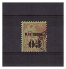 MARTINIQUE N° 4 . 05 c  SUR  20 c  SIGNE  CALVES    OBLITERE  .SUPERBE