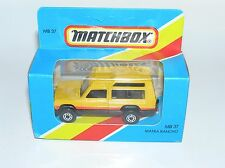MATCHBOX #37 MATRA RANCHO YELLOW WITH THICK 5 ARCH WHEELS / ENGLAND CAST / MIB