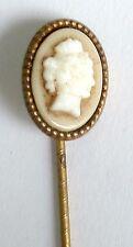 Un tono oro vintage Bastone Perno Con Un Bicchiere Cameo