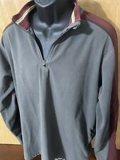 REI 1/4 Zip Fleece Pullover Shirt Sweatshirt Mens Large L Gray Red