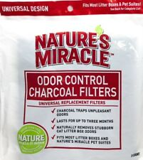 Nature's Miracle Odor Control Universal Cat Filter Charcoal 2 Filters / Pack