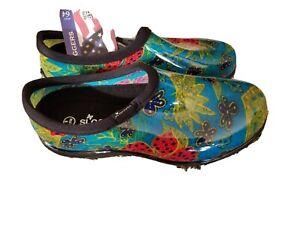 NWT Sloggers Women's Size 8 Midsummer Waterproof Garden Shoe Slip-On Made USA