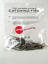 Hunger Games CATCHING FIRE DOG TAG Opening Night Mint In Plastic 121616