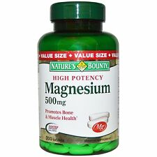 Nature's Bounty, magnesio, 500 mg, 200 compresse