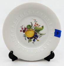 """FRUIT by JKW Bavaria Salad Plate 7 3/4"""" White Fruit Center Embossed Inner Rim F"""