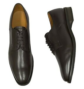 Bally Men's Shoes Size 10 ( UK 9 ) Salfano Chocolate Brown Leather Oxfords