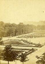 France Paris Emperor's Gardens Tuileries Palace Old CDV Photo 1870