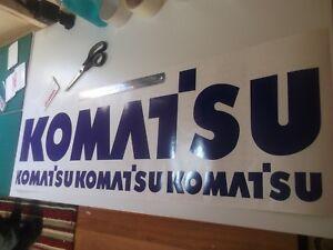 KOMATSU STICKER DIGGER DECAL  PC EXCAVATOR SETS